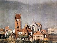 Warszawa, Nowe Miasto, Kościół pw. Nawiedzenia NMP, Panorama Nowego Miasta,Canaletto