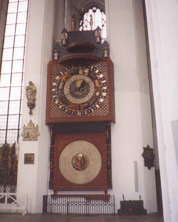Zegar astronomiczny w Kościele Mariackim w Gdańsku
